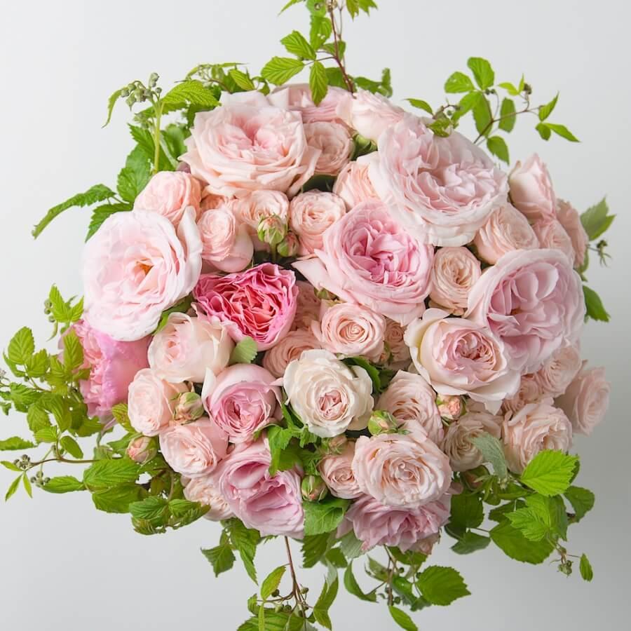 bouquet_rond_roses_odorantes