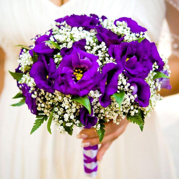 Свадебный фиолетовый букетик, суши тюмень доставкой